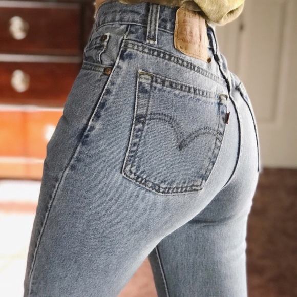 7e16bceb205 Levi s Denim - Levi s 551 Vintage Light Wash Distressed Mom Jeans